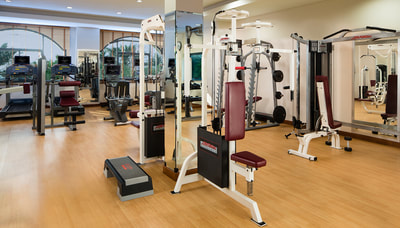 Gym at Ajman Hotel, UAE