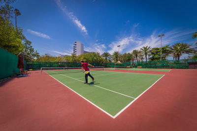 Tennis Court at Ajman Hotel, UAE